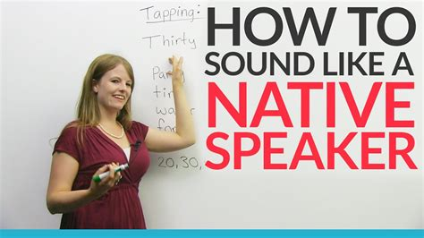 sound   native english speaker tapping youtube