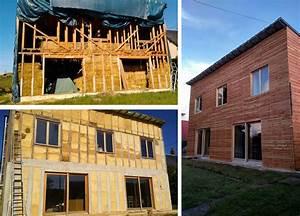 maison en paille et en ossature bois autoconstruction With maison bois et paille