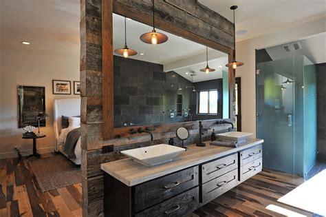 rustic glamour rustic bathroom los angeles  jrp design remodel