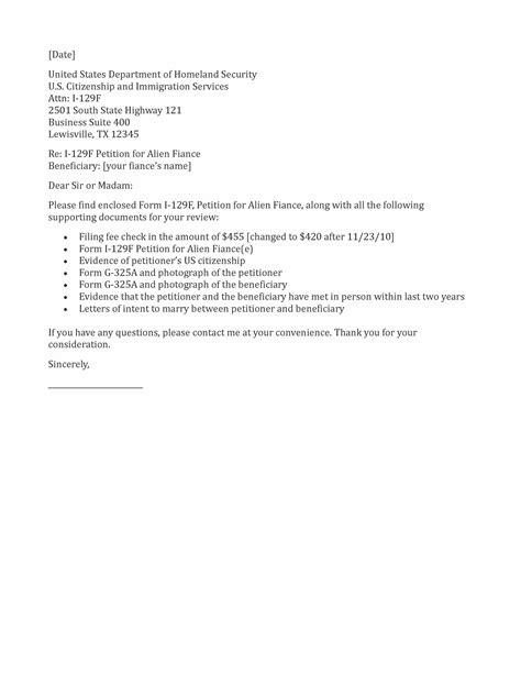 Sample Cover Letter K1 Visa Adjustment Status   Sample Resume