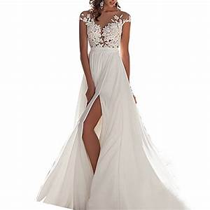 chady chiffon beach wedding dress 2016 lace back long tail With long beach wedding dress