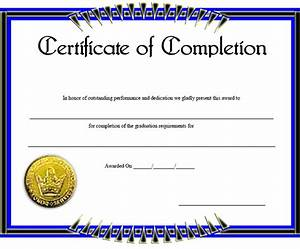 certificate of completion template wwwimgkidcom the With certification of completion template