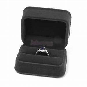velvet double ring wedding engagement ceremony gift box With double ring box for wedding ceremony