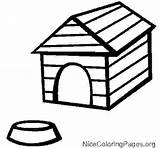 Dog Kennel Clipart Outline Drawing Doghouse Coloring Clipartmag Bowl Pages Printable sketch template