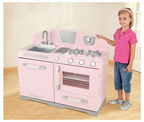 KidKraft Pink Retro Kitchen Stove & Oven Girls Play Set