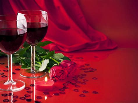 glasses  wine red roses light candle  wallpaperscom