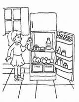 Coloring Refrigerator Preschool Sheets Sketch Themes Idea Template Meat Myway sketch template