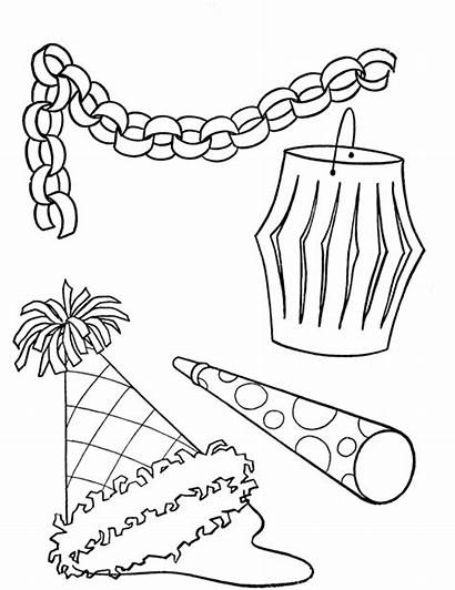 Coloring Birthday Pages Party Decorations Printable Colouring