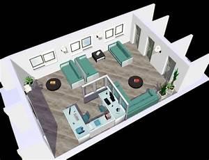 Projet 3D d'une salle d'attente - Eyre Déco