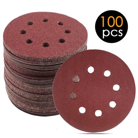 pcs    holes hook  loop sanding discs