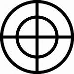 Mira Aim Fadenkreuz Symbol Icono Sight Icon