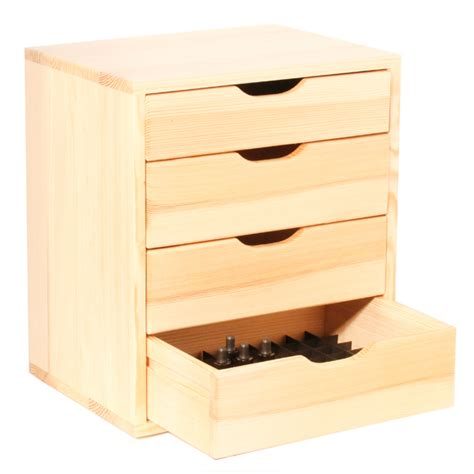 large jars 4 drawer storage unit