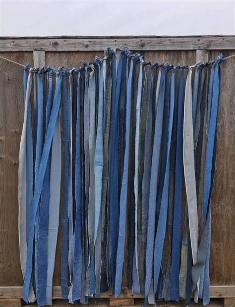 Backdrop Denim Themed beautiful strips of blue denim strung to create a backdrop