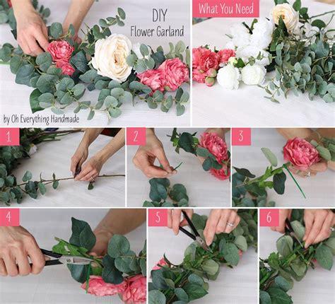 diy flower garland en 2018 lucas garden boda bodas vintage y decoracion bodas