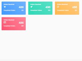 bootstrap snippet gradients dashboard cards