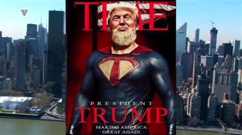 trump superman donald fake magazine jr shares his vs dad president hero greatness growing america