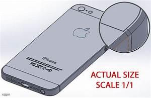 Apple iPhone 5 - Actual size 3d model - CGStudio