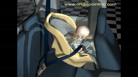 Computer Animation Of Baby And Infant Seat In Pickup Truck