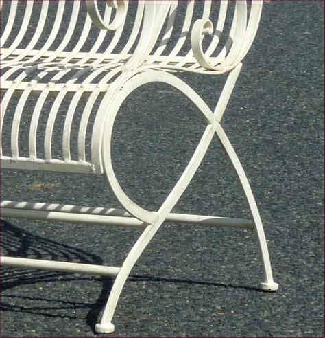 chaise jardin fer forgé banc fauteuil chaise de jardin en fer forgé d interieur d exterieur blanc 110cm ebay