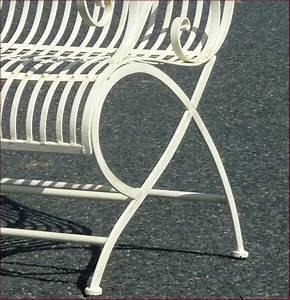 Fauteuil Fer Forgé : banc fauteuil chaise de jardin en fer forg d interieur d exterieur blanc 110cm ebay ~ Melissatoandfro.com Idées de Décoration