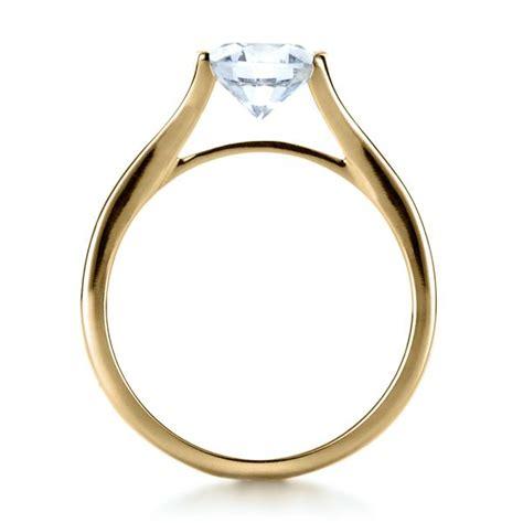 14k yellow gold half bezel engagement ring 1258 seattle bellevue joseph jewelry