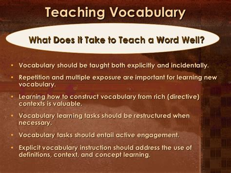 Teaching Vocabulary