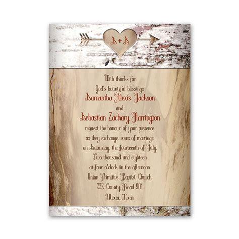 wedding place card aged birch invitation 39 s bridal bargains