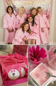 A Glitzy & Glam Barbie Spa Birthday Party // Hostess with