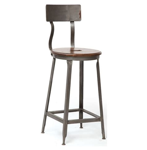Counter Stools by Vintage Steel Industrial Modern Counter Stool Kathy Kuo Home