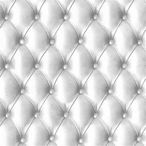 Papier Peint Trompe L4oeil : papier peint capitonn blanc aspect cuir trompe l il ~ Premium-room.com Idées de Décoration
