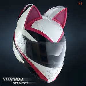motorcycle helmet with cat ears motorcycle helmets are more badass with cat ears