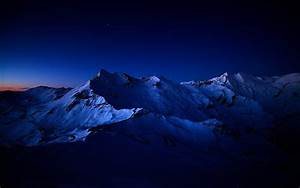 Mountains Nature Night Scenic Skyscapes Snow Stars Sunset ...