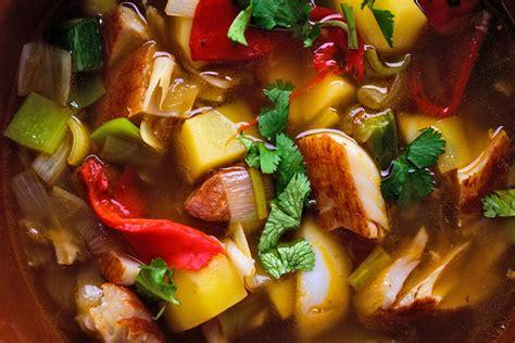 smoked fish  potato soup  chorizo recipe nyt cooking
