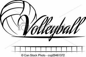 Illustrations Vectorisées de volley-ball, bannière ...