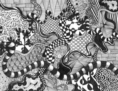 zentangle  elementjhedren  deviantart