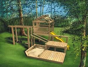 Jeux Exterieur Bois Enfant : fabriquer une aire de jeux en bois ~ Premium-room.com Idées de Décoration