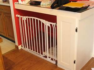 turning a built in desk into an indoor dog 39crate39 with a With dog cage gate