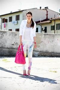 Jeans pastello ed un total white Ireneu0026#39;s Closet per Salsa Jeans
