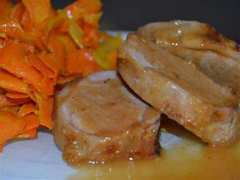 cuisine filet mignon recettes de filet mignon de porc et carottes