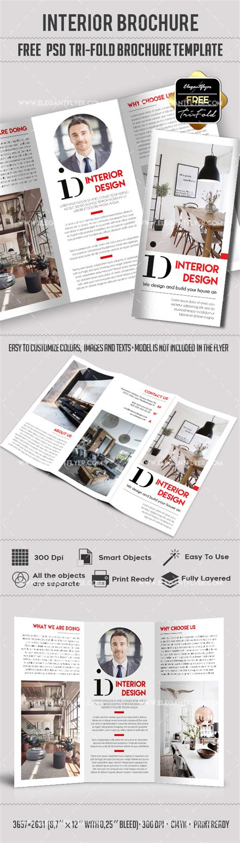 Tri Fold Brochure Template Psd Free by Interior Design Free Tri Fold Brochure By Elegantflyer