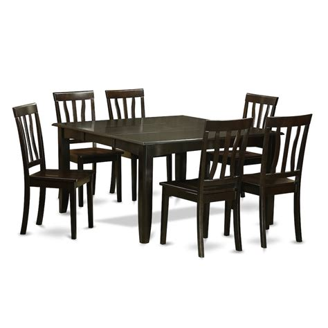 Dinette Table With Leaf by 7 Pc Dining Room Set Dinette Table With Leaf And 6 Dinette
