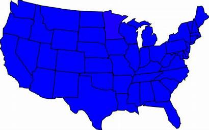 States Map United Clipart Outline Clip Silhouette