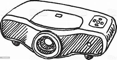 Projector Sketch Lcd Clip Desenho Industrial Projetor