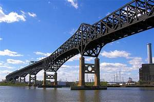 Pulaski Skyway Over Hackensack River  New Jersey