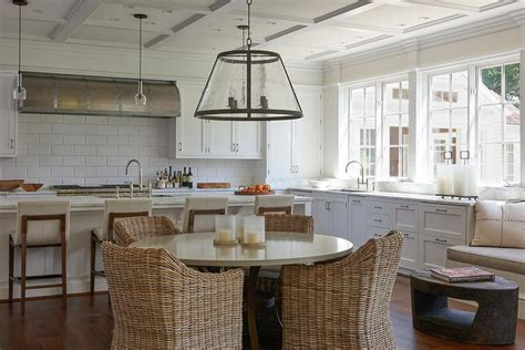 modern country kitchen  oversized subway tiles