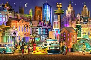Artist creates amazing dreamlike pictures of Liverpool ...