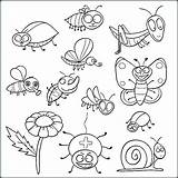 Coloring Insect Insects Pages Printable Bugs Colouring Pdf Preschool للتلوين Ladybug حشرات Heart Print Getdrawings Animal Bee Getcolorings Friends sketch template