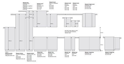 ikea caisson cuisine dimensions elements cuisine ikea table de lit