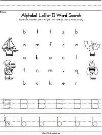 letter  word search  preschool kindergarten  early