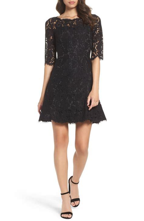 eliza  lace fit flare dress regular petite nordstrom